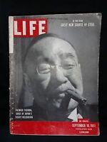 Life Magazine September 10,1951 Issue Rare Great Treaty of Japan's Steel issue