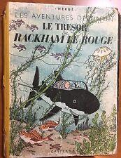 TINTIN: Le Tresor Rackham Le Rouge 1944 1st Edition Originale Casterman EO Herge