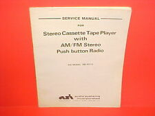 1981 ASI CASSETTE CAR STEREO TAPE PLAYER/AM-FM RADIO SERVICE MANUAL DB-9310