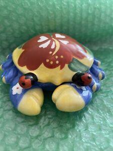 Vintage Ceramic Crab Jewelry Box