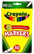 Crayola Classic Color Markers 10-Count, Long-Lasting Brilliant Color, Fine Line