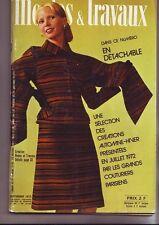 modes et travaux  - septembre 1972 - numero 861 -