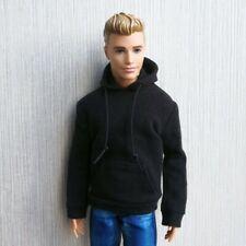 "Handmade doll clothes black hoodie for 1/6 dolls 12""  ken dolls"