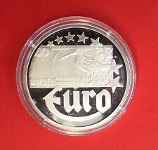 MEDAILLE COMMEMORATIVE 10 EURO 1997 PAYS-BAS - BILLET 100 GULDEN - UNC en ARGENT