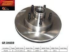 Disc Brake Rotor-4-Wheel ABS Front Best Brake GP54059