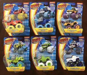 Set Lot Of 6 Blaze And The Monster Machines Die Cast MONSTER ENGINE + DARINGTON