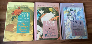 Anne Rice / A.N. Roquelaure Sleeping Beauty Trilogy Hardcover Book Lot 1980's