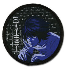 **Legit** Death Note Anime SD Detective L Circle Iron On Authentic Patch #7274