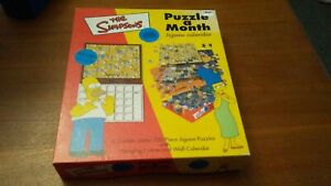 The simpsons 6 double sided 200 piece jigsaw wall calendar used offers welcome