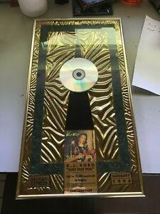 DJ BOBO Just for You Auszeichnung für 25000 Stück verkaufte CD's in Ungarn