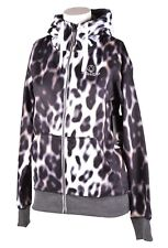 2018 NWT WOMENS VOLCOM CASCARA FULL ZIP UP FLEECE HOODIE $60 S Cheetah/Purple