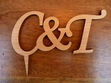 Personalised Wedding Cake Topper: Wooden Wedding Cake Topper Decoration Initials