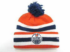 EDMONTON OILERS 2016 NHL HERITAGE CLASSIC REEBOK CUFFED POM KNIT HAT TOQUE
