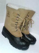 Kamik Quest 8 US Womens Winter Duck Boots Waterproof Lined Brown Warm Heavy