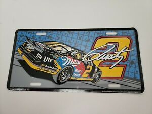 NASCAR #2 Rusty Wallace Miller Racing  Metal License Plate new