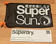 Soft Genuine Superdry Sunglasses Glasses drawstring pouch cloth Black White new