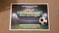 Kellogg's Panini Football Superstar Dream Team Poster - New and Sealed