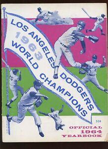 1964 MLB Baseball Los Angeles Dodgers Yearbook