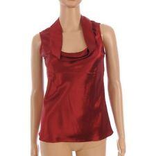 Silk No Pattern Scoop Neck Regular Tops & Shirts for Women