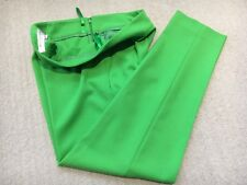 💚NEW FRENCH CONNECTION SPRING GREEN CROPPED TROUSERS ANKLE LENGTH SIZE 10 FAB💚