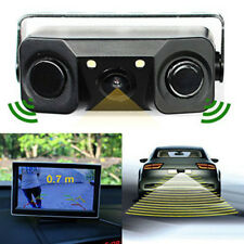 3 In1 Car Visual Rear View Camera with Backup Parking 2 Radar Detector Sensors