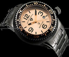 Swiss Legend Men's 48mm Neptune Force Swiss  Rose Gold Tone Gunmetal IP SS Watch