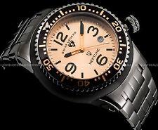 Swiss Legend Men's 48mm Neptune Force Swiss  Rose Gold Tone Gunmetal IP SS Watch
