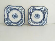 Royal Crown Derby Vintage Dragon And Pheonix Blue White Square Side Plates 9684