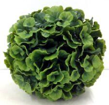 "PVC Galax Leaf Kissing Ball/Orb. Green. 8"". Great for: Basket, Arrangement, etc"