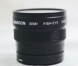 SAMIGON SEMI FISH-EYE 0.42X 49MM CAMERA LENS (MINT)