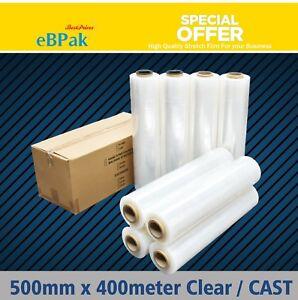 Stretch Film CLEAR Hand Use 500mm x 25UM Pallet Wrap