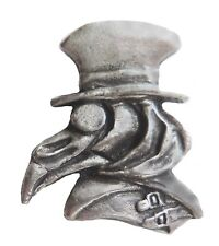 'The Pox Doc' Steampunk Style Plague Doctor Pewter Pin Badge