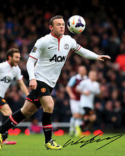WAYNE ROONEY #2 (MANCHESTER UNITED) - 10X8 PRE PRINTED LAB QUALITY PHOTO PRINT