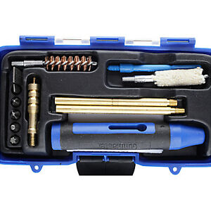 Gunmaster .357 / .38 / 9 CALIBER PISTOL CLEANING KIT: Rods Brush Mop HQ Gun Care