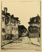 W.JEGHER (1888-1915), Blick in die Florhofgasse in Zürich, Lichtdruck, Repro