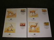 Libyan FDC 1987,WWF,Mi.nr.1753 - 1756,Gazellen !