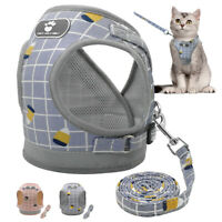 Cat Walking Jacket Harness and Leash Escape Proof Adjustable Pet Puppy Mesh Vest