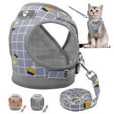 Cat Walking Jacket Harness and Leash Escape Proof Adjustable Pet Puppy Mesh Vest