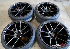 """19"""" Niche Targa M130 Black Wheels w Tires fits Nissan 350 370 Infiniti G35 G37"""