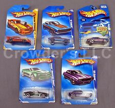 Set of 5 Collectible Chevy Camaro Hot Wheels Variety: 67 Custom 69 Convertible