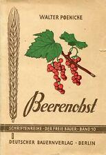 Beerenobst (Walter Poenicke) Deutscher Bauernverlag 1949