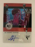2019-20 De'Andre Hunter Flux Red Rookie Card RC Auto Atlanta Hawks Autographed
