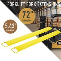 "72"" Forklift Pallet Fork Extension Slide on Steel/ Clamp Forklifts Lift Truck"