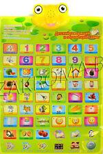 Educational Game. Russian Alphabet Electronic Poster / Russian Electronic Mat.