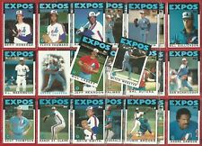 TOPPS - 1986 BASEBALL CARDS - MONTREAL EXPOS CARD GROUP - 29 CARDS (NY01)