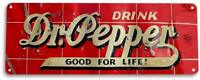 Dr Pepper Good For Life Soda Vintage Metal Decor Sign