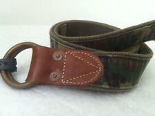 Ralph Lauren Men's Belt Camouflage Leather Ends O-Ring Size L NWT
