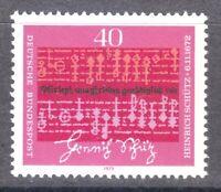 Germany 1972 MNH Mi 741 Sc 1096 Music by Heinrich Schutz, composer **