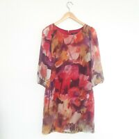Portmans Womens Size 8 Purple Watercolour Lightweight Shift Dress