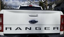 MATTE BLACK- 2019 Ford Ranger Rear Tailgate Word Decal Insert Inlays